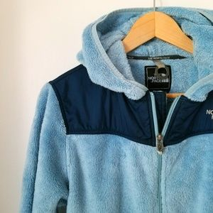 The North Face Fuzzy Hooded Full Zip Jacket - Blue